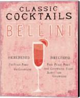 Classic Cocktails Bellini Pink Fine-Art Print