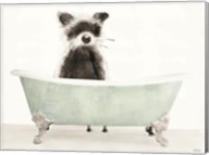 Vintage Tub with Racoon Fine-Art Print
