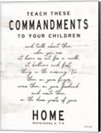 Teach These Commandments Fine-Art Print