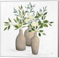 Natural Bouquet II White Fine-Art Print
