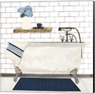 Farmhouse Bath I Navy-Tub Fine-Art Print