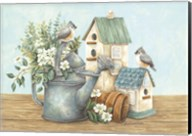 Watering Can and Chickadees Fine-Art Print