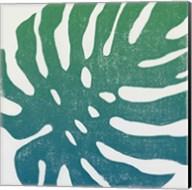 Tropical Treasures I Blue Green Fine-Art Print