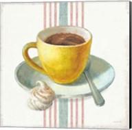 Wake Me Up Coffee IV with Stripes Fine-Art Print