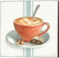 Wake Me Up Coffee III with Stripes Fine-Art Print