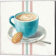 Wake Me Up Coffee I with Stripes Fine-Art Print