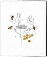 Bees and Botanicals V Fine-Art Print