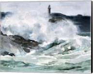 Lighthouse Waves II Fine-Art Print