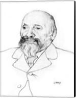 Portrait of Russian Composer Mily Balakirev, 1907 Fine-Art Print