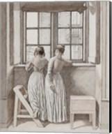 At a Window in the Artist's Studio, 1852 Fine-Art Print