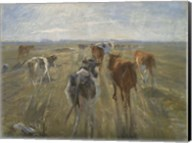 Long Shadows, Cattle on the Island of Saltholm, c. 1890 Fine-Art Print