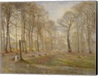 Late Autumn Day in the Jaegersborg Deer Park, North of Copenhagen, 1886 Fine-Art Print