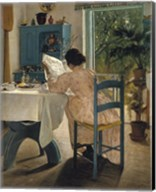 Breakfast with the Morning Newspaper, 1898 Fine-Art Print