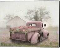 Pink Flower Truck Fine-Art Print