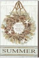 Summer Beach Wreath Fine-Art Print