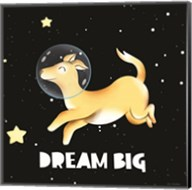Dream Big Astronaut Dog Fine-Art Print