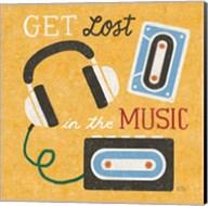 Retro Desktop Headphones v2 Fine-Art Print