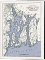 Narragansett Bay Map II Fine-Art Print