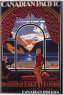 Canadian Pacific-Lake Louise window Fine-Art Print