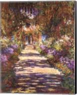 Jardin a Giverny Fine-Art Print