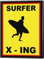 Sign - Surfer Crossing Fine-Art Print