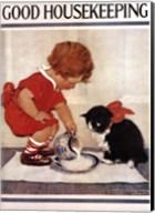 Good Housekeeping Milk And Kitten Fine-Art Print