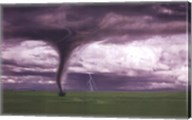 Tornado And Lightning On Field Fine-Art Print