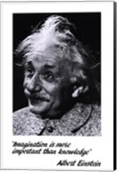 Einstein - Imagination Wall Poster