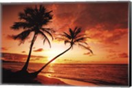 Tropical Sunset Wall Poster