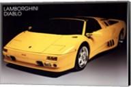 Lamborghini Diablo Wall Poster