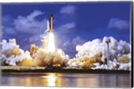 Space Shuttle Take Off Wall Poster