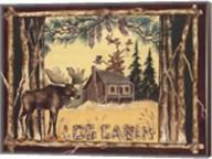 Log Cabin Moose Fine-Art Print