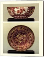 Oriental Bowl and Plate I Fine-Art Print