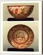 Oriental Bowl and Plate II Fine-Art Print