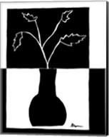 Minimalist Leaf in Vase I Fine-Art Print
