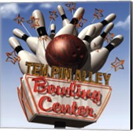 Ten Pin Alley Bowling Center Fine-Art Print