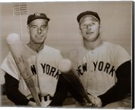 American Hero's Joe Dimaggio & Mickey Mantle Fine-Art Print
