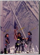 Firemen Raising the Flag at World Trade Center Fine-Art Print