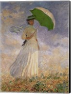 Woman with Sunshade Fine-Art Print