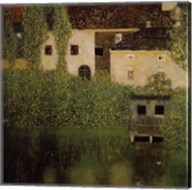 Unterach Manor and Lock Chamber on the Attersee Lake, c.1908 Fine-Art Print