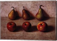 3 Apples and 3 Pears Fine-Art Print