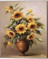 Sunflowers In Bronze I Fine-Art Print
