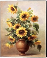 Sunflowers In Bronze II Fine-Art Print