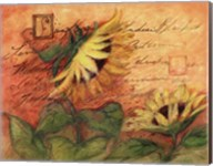 Sunflowers On Red Fine-Art Print