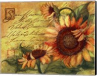 Sunflowers On Gold Fine-Art Print