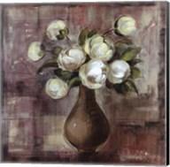 Peonies on White Background Fine-Art Print