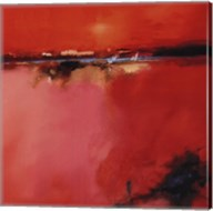 Orange Horizon - square Fine-Art Print