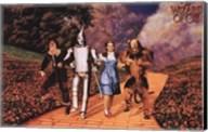 The Wizard of Oz - Skipping on Yellow Brick Road Fine-Art Print
