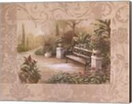 Garden Bench I Fine-Art Print