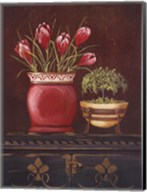 Asian Red Crocus Floral Fine-Art Print